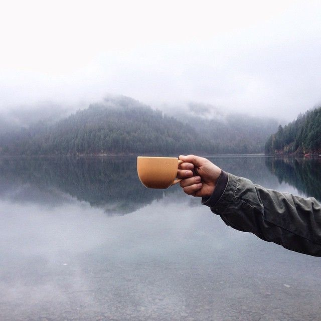 whiskandwhittle.com Coffee by the mountain lake.. cmon whats more awesome than that! :D