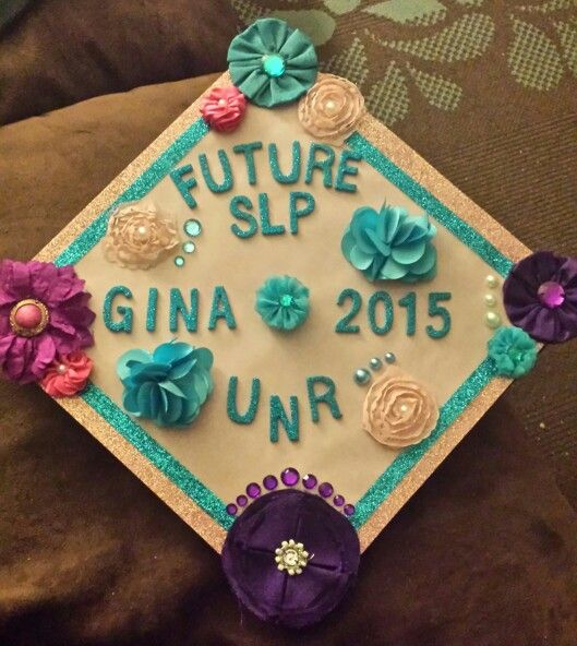 My graduation cap, BS in Speech Pathology and Audiology and headed to grad school in the fall!!