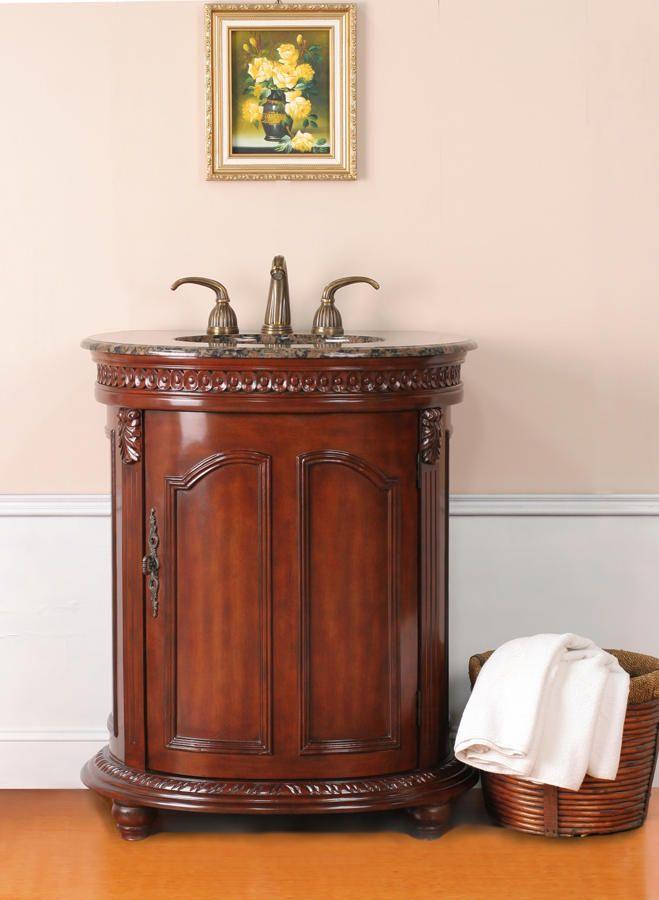 Web Image Gallery Campania Round Wood Bathroom Vanity LS by Virtu USA