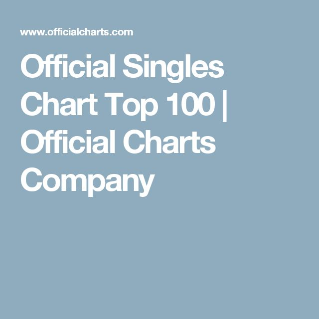 Official Singles Chart Top 100 | Official Charts Company