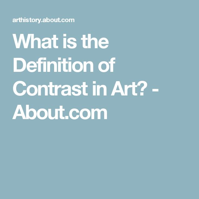 What is the Definition of Contrast in Art? - About.com