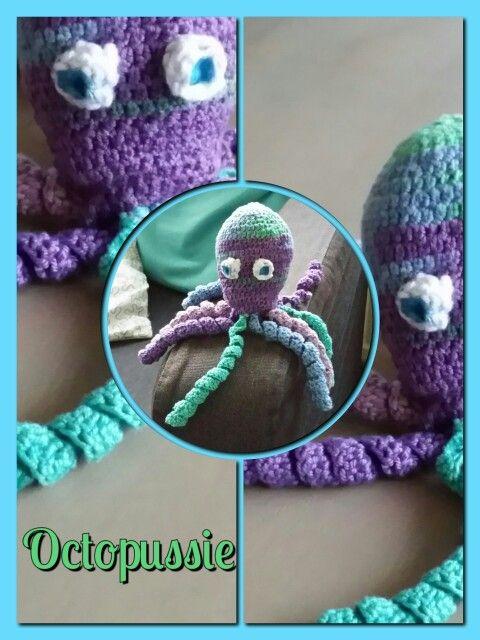Door mij gehaakte octopus