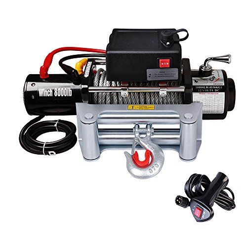 Yescom 8000 lb 12V Recovery Winch Truck Trailer ATV SUV 5.5HP Electric Towing Mount | Winch SuperStore