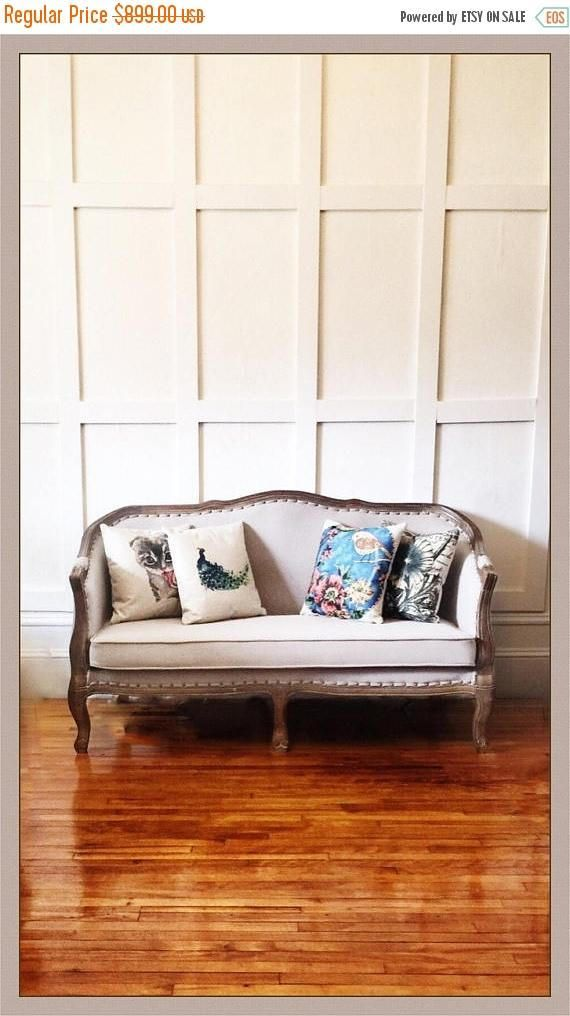 ON SALE Curved upholstered Victorian-styled French