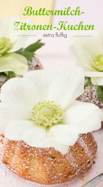Der Frühling wird fluffig: Buttermilch-Zitronen-Kuchen