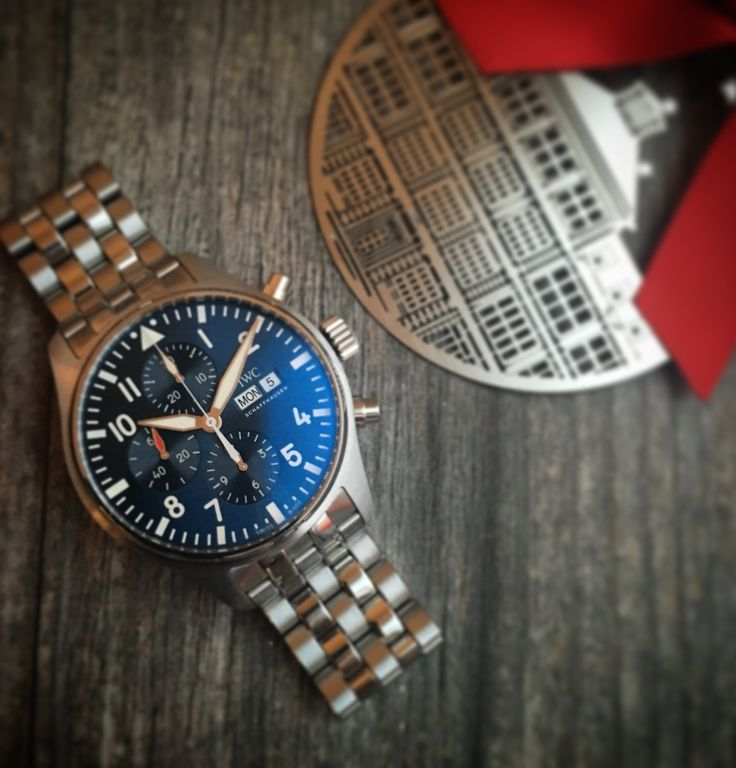 "Happy Holidays from IWC! Add the IWC Pilot's Watch Chronograph Edition ""le Petit Prince"" to your wish list!   Follow @iwcwatches_france on Instagram for more great content."