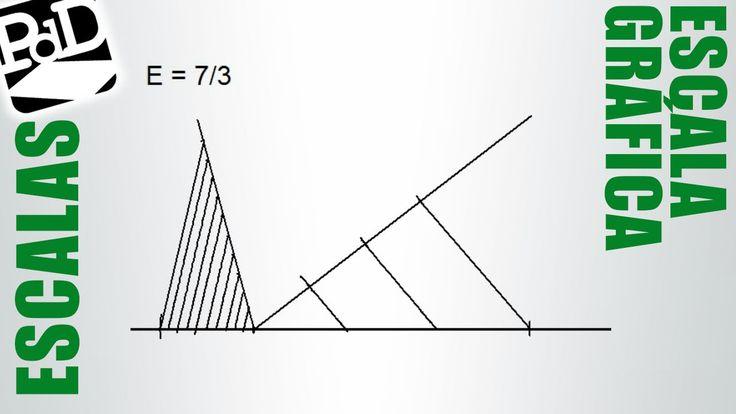 Trazar una escala gráfica (Reducción o ampliación, Dibujo Técnico).