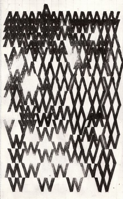 W M W M W. Reminds me of a study I did on repeating letters in an architectural drawing class.