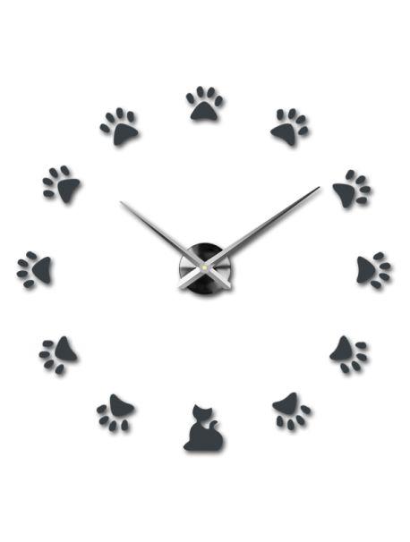 Ceasuri de perete moderne - pisică Referinta  12S017-RAL7005-S-COLOR** Alege o culoare de unul singur! Timpul a venit mult mai confortabil REALIT ceas nou. 3D Ceas de perete mare este un decor frumos al interiorului. Nu vei fi niciodată târziu.