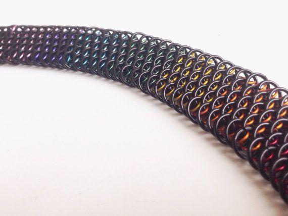 Regenboog en zwarte sieraden ingesteld in dragonscale. door Misome