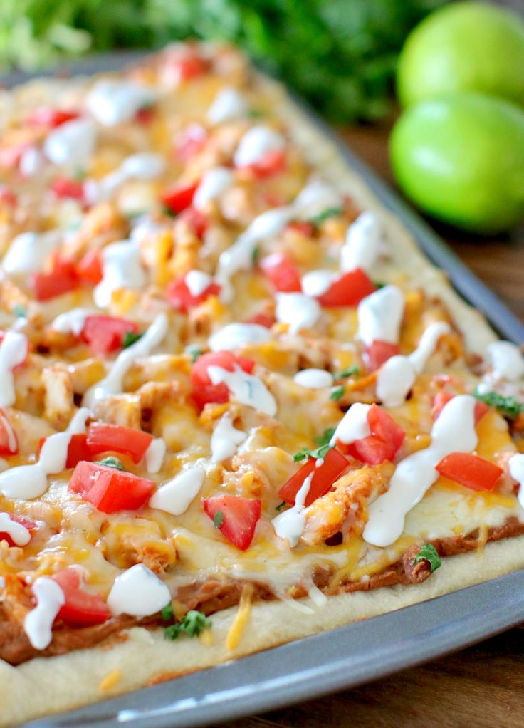Get two meals out of one preparation! The most amazing chicken pizza with a secret sauce that tastes like Del Taco's. Get a second meal with Chicken Tacos!