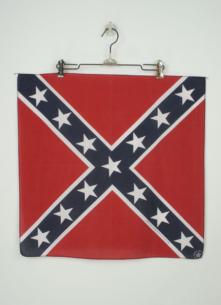 Super cool politically incorrect rebel flag bandana. This is a 50% poly 50% cotton bandana in perfect condition. The bandana measures 21 inches x 21 inches. Crafted with pride in America.