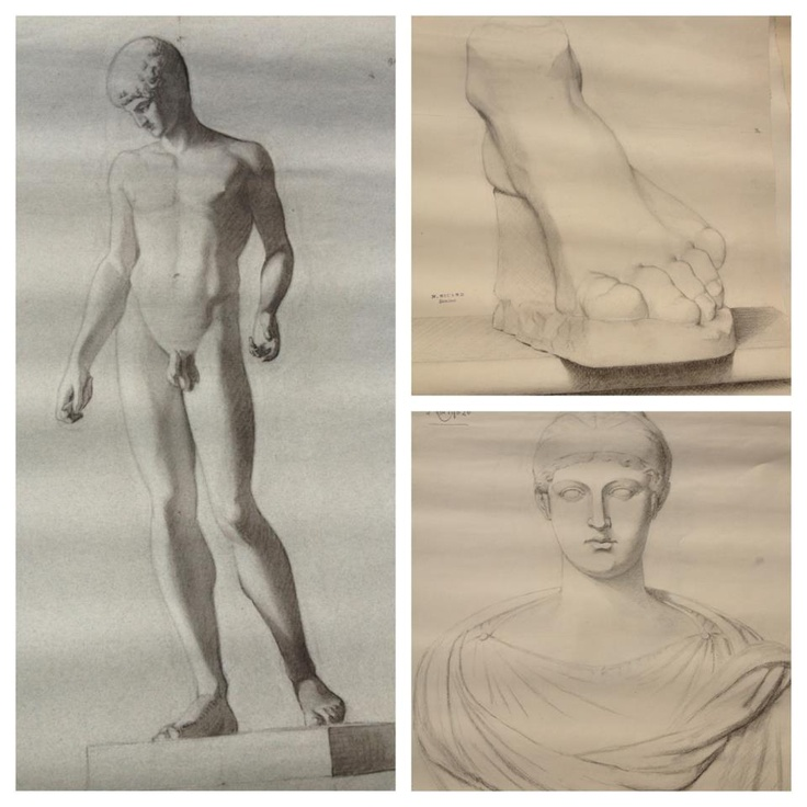 3 of a series of 30 academic drawings from the Beaux Arts Ecole-Lyon 1903.  In the shop 9-26: Fine Arts, Shop 9 26, Ecole Lyon 1903, 30 Academic, Arts Ecole Lyon, Academic Drawings