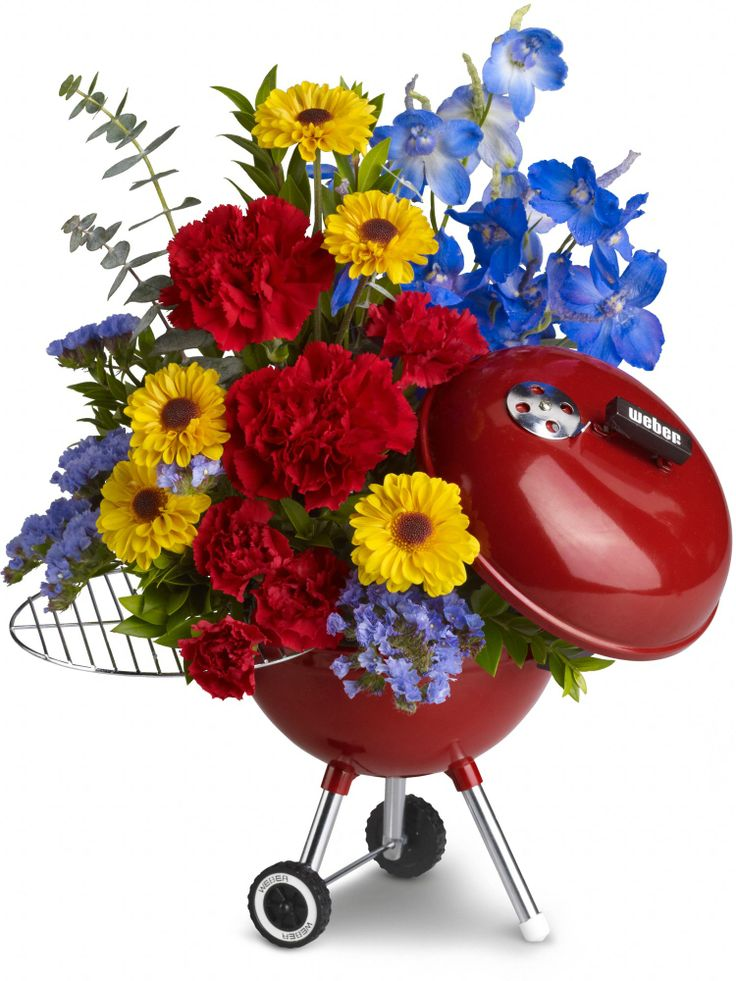WEBER King of the Grill bouqet by Teleflora - perfect decor for BBQs and picnics!