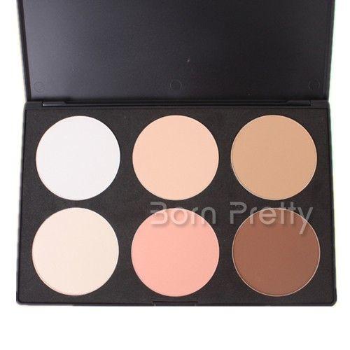 $13.69 6 colors Skin Care Beauty Powder Foundation as nude makeup P6 #1 - BornPrettyStore.com