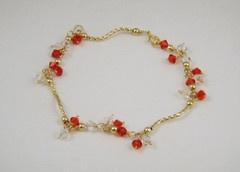 Siam and Diamond Crystal Bracelet