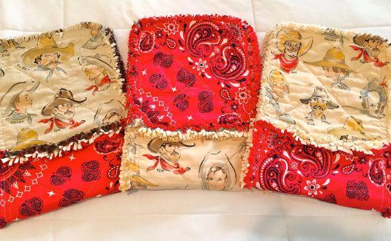 Cowboys Baby Burp Cloth Set of 3 Cowboys Bandanas Burpies