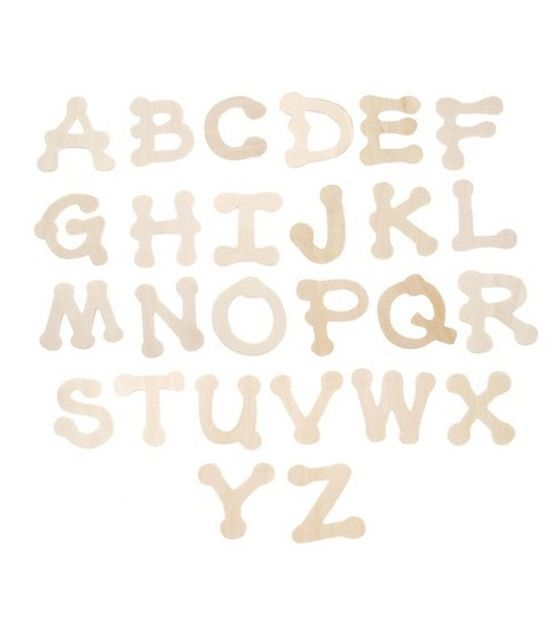 Darice® Wood Cutout Letters-Dot To Dot 1.75""