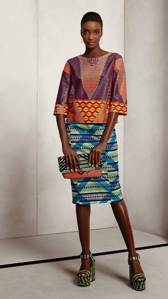 Piense - La nueva colección Vlisco   Las impresiones africanos en Moda