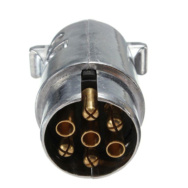 BESTE 7 Pin Auto Elektrische Plug Sockets Ronde Mannelijke Metalen Caravan Vrachtwagen Ute Auto-onderdelen Boot Gratis Verzending E # een