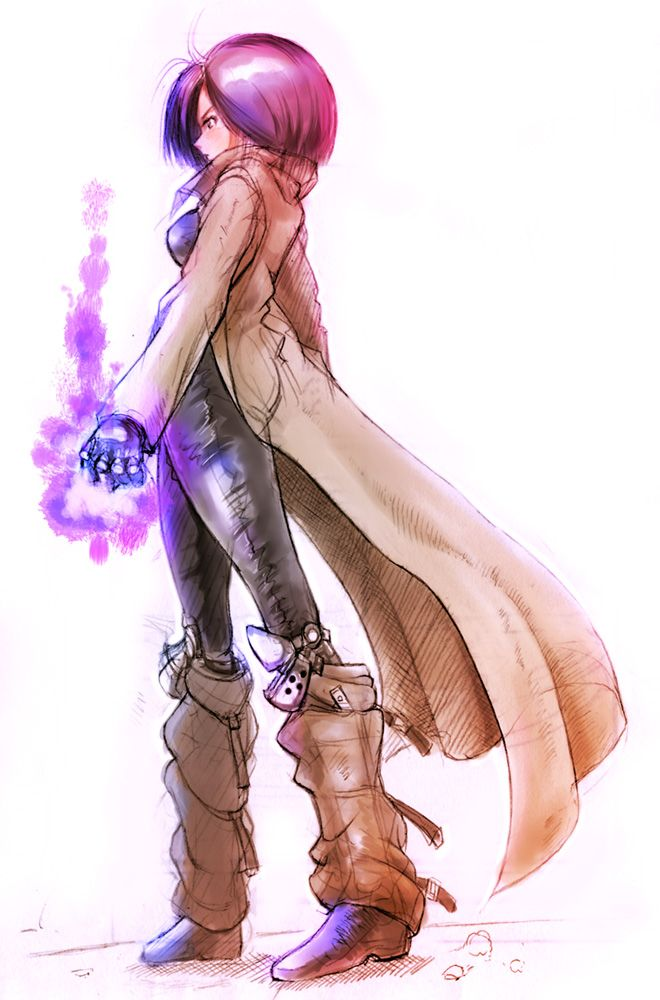 Tags: Anime, Battle Angel Alita, Gally, Cyber, Cyborg, Long Coat