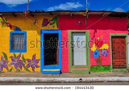 Beautiful Colored Houses Of Apaneca, El Salvador Stock Photo 194443430 : Shutterstock