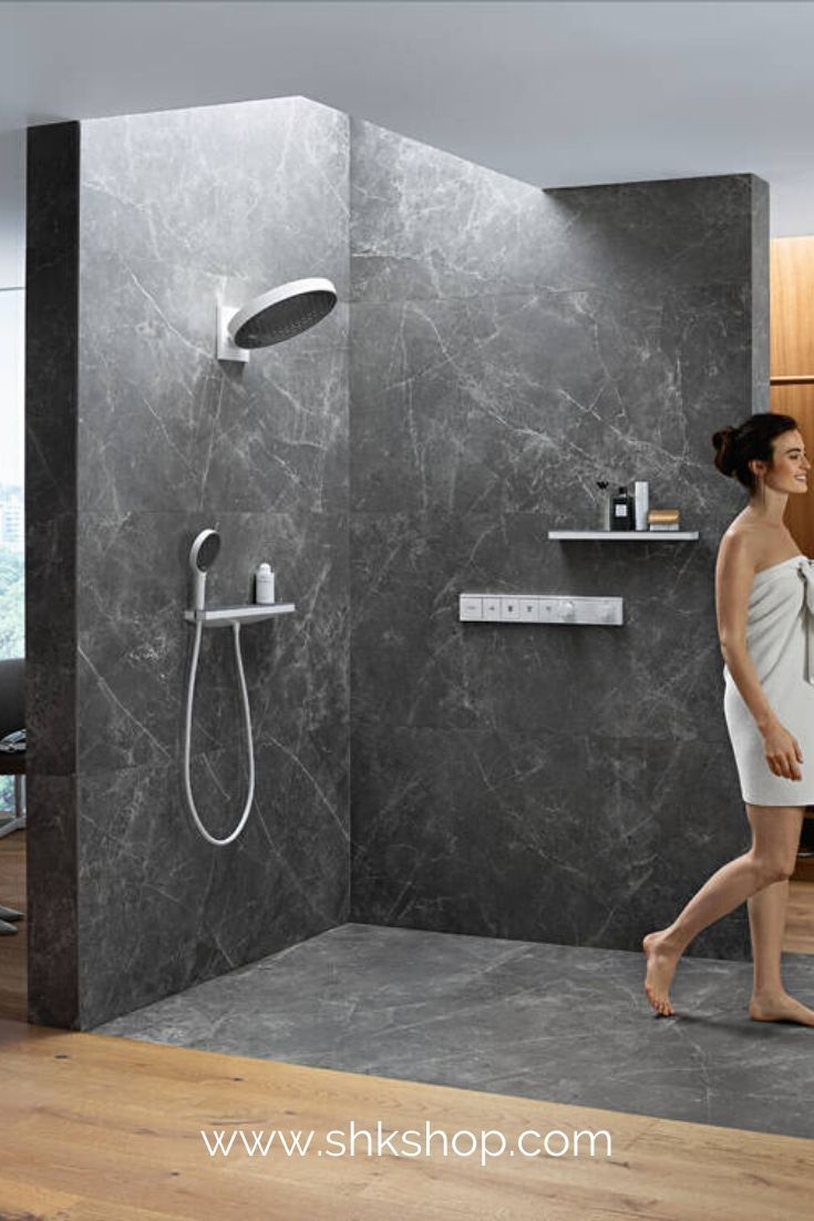 Hansgrohe Rainfinity Kopfbrause 360 3jet Mit Wandanschluss In 2020 Kopfbrause Badezimmer Trends Neues Badezimmer