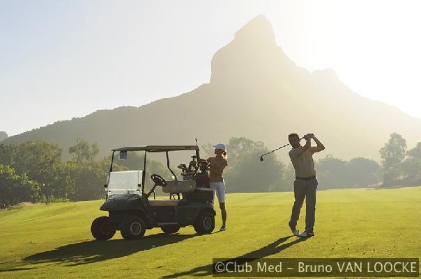 18-holes golfbaan Tamarina Golf Club op 15km van Club Med La Plantation d'Albion op Mauritius.