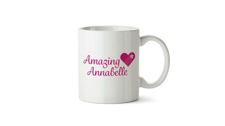 Amazing Annabelle logo on cup
