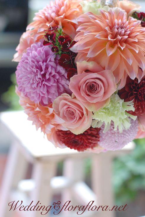 Wedding ボールブーケ : FLORAFLORA*precious flowers*ウェディングブーケ会場装花&フラワースクール*