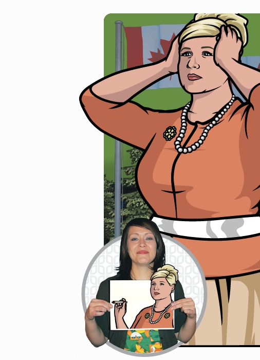 Archer:  Pam Poovey (Amber Nash) Brilliant!!