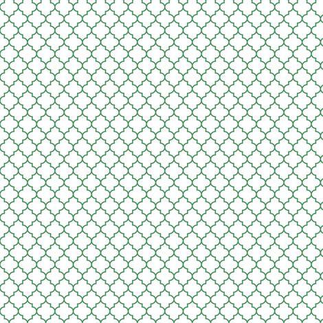quatrefoil kelly green fabric by misstiina on Spoonflower - custom fabric