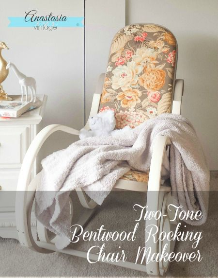 Two Tone Bentwood Rocking Chair Makeover | Anastasia Vintage A Vintage  Bentwood Rocking Chair Gets