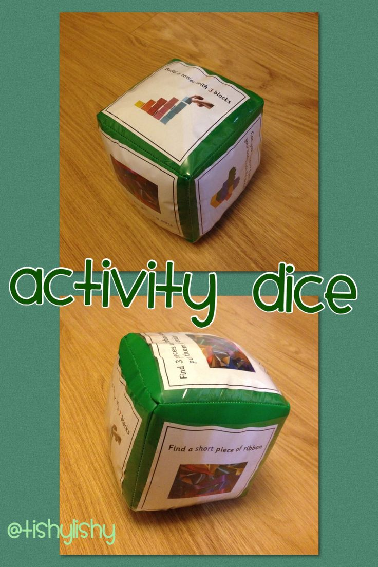I made inserts for the dice based on 'length' with questions: find 3 ribbons and order them. Build a tower with 7 cubes. Find a short stick. All the resources were around the room. It made for a very active adult led activity.  A very versatile resource.