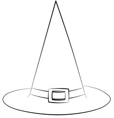 Chapeau sorci re sorci res pinterest for Paper witch hat template