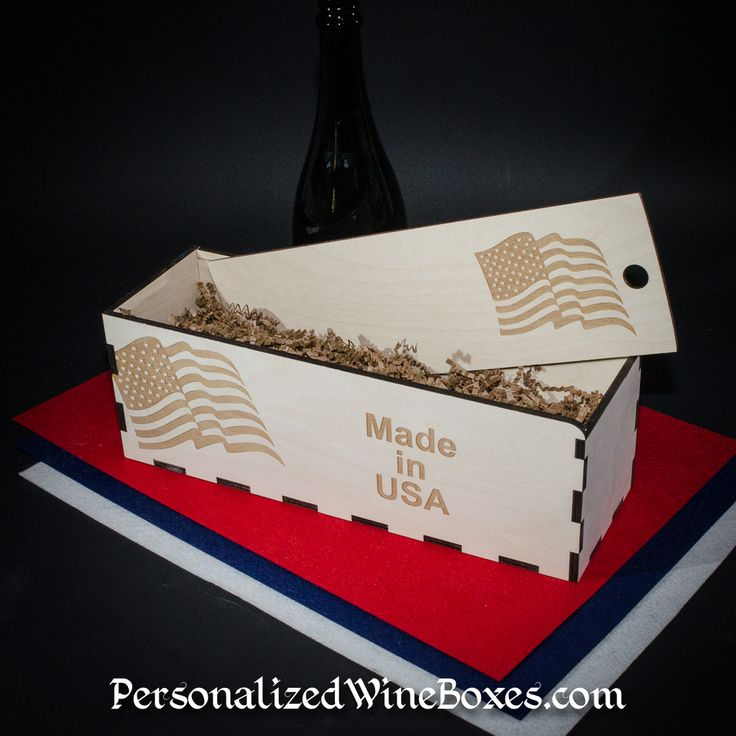 Customized Wine Gift Boxes or crates, your logo, sayings, graphics or photos.  Made by #wineboxguy #madeinamerica