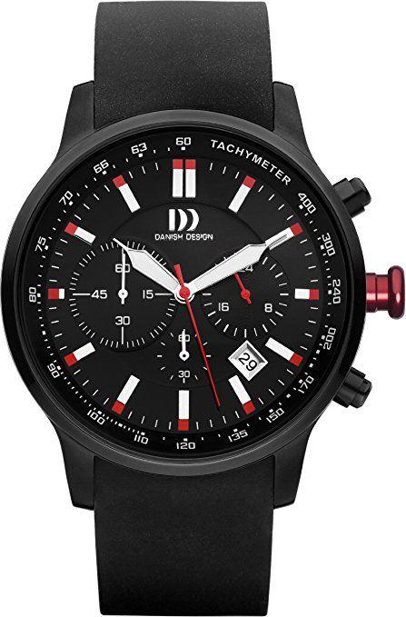 Danish Designs  DZ120180 - Reloj de cuarzo para hombre, con correa de goma, color negro