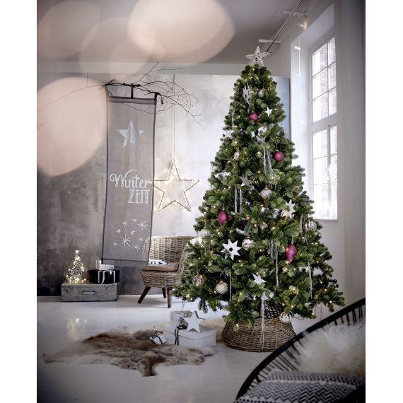 Impressionen Tannenbaum.Weihnachtsbaumständer Verkleidung Rustikal Rattan Katalogbild
