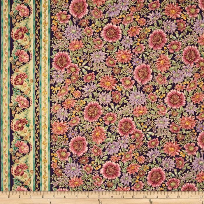 Robert Kaufman - Tuscan Wildflower 3 APTM-15406-238 GARDEN panel