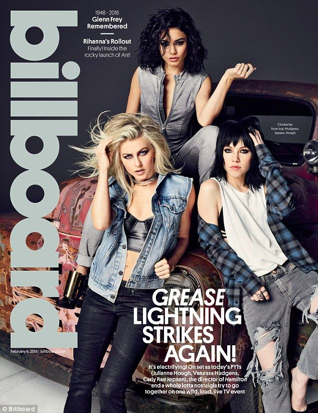 Far from Rydell High: Grease Live co-stars Julianne Hough, Vanessa Hudgens, and Carly Rae ...