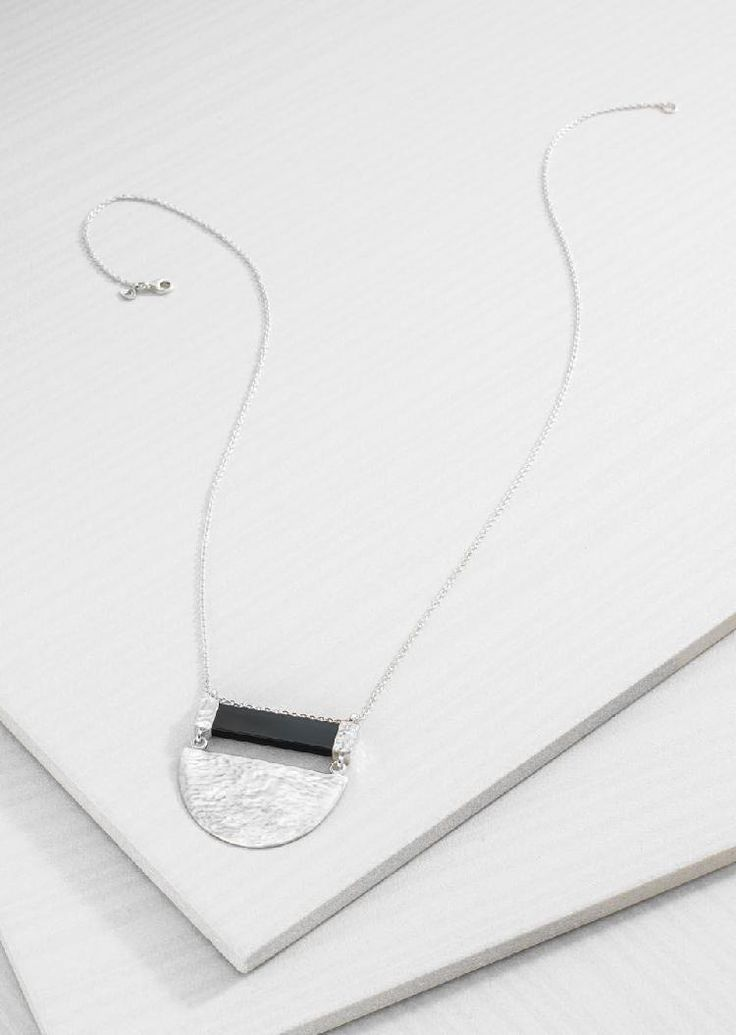 Modern Contrast Necklace | Silpada love! | Pinterest