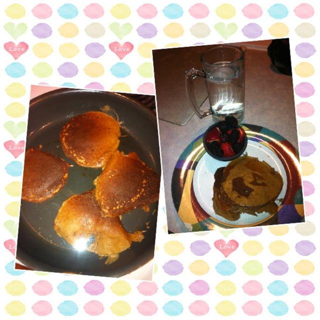 My designer whey protein pancakes
