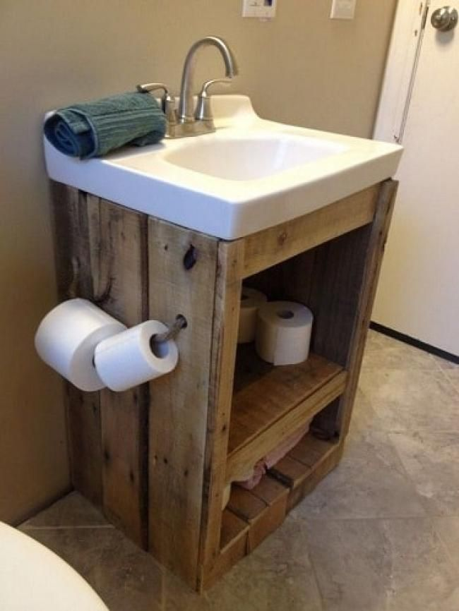 Wood Pallet Bathroom Decoration Ideas Pallet Bathroom Diy Bathroom Vanity Rustic Bathroom Vanities