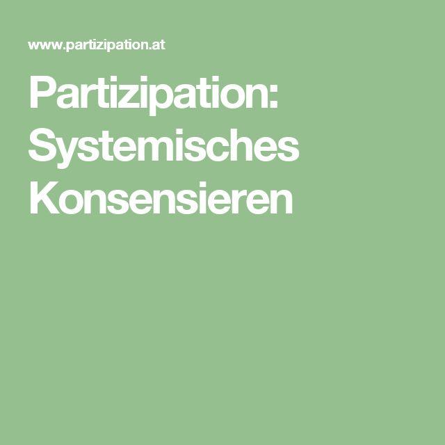 Partizipation: Systemisches Konsensieren