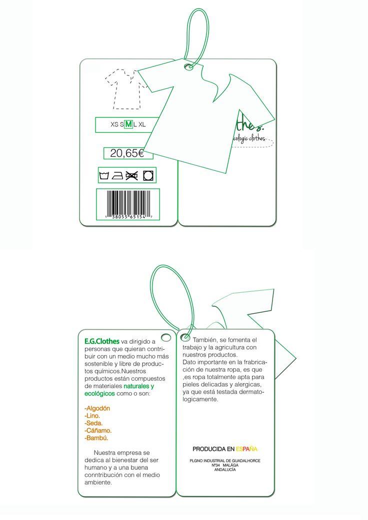 Creación de identidad corporativa E.G.Clothes, junto con tarjetas de visita, más etiqueta de ropa.Proyecto para T.I.P