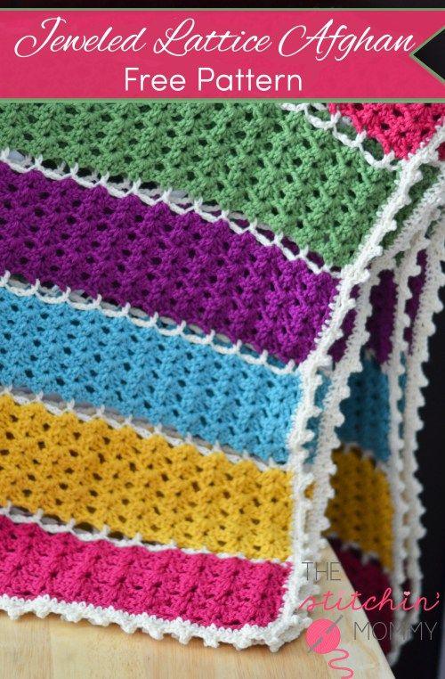 Mejores 204 imágenes de Crochet blanket en Pinterest | Artesanías ...