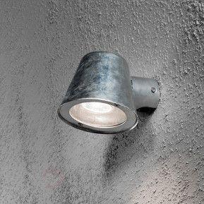 Liten utomhusvägglampa Trieste av stål