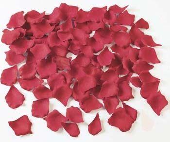 リアルな造花のフラワーシャワー・ワインレッド約100枚入り(クリアーボックスつき)