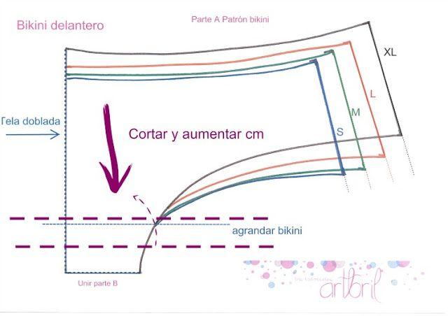 los tutoriales de artbril: Cosemos juntas Bikini- Patrones                                                                                                                                                     Más