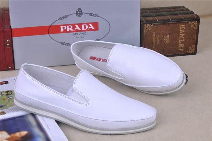 prada saffiano lux satchel bag - Prada Mens Boat Shoes Leather Loafer Slip-on White | POSH ...